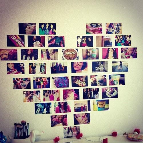 Cute love heart collage