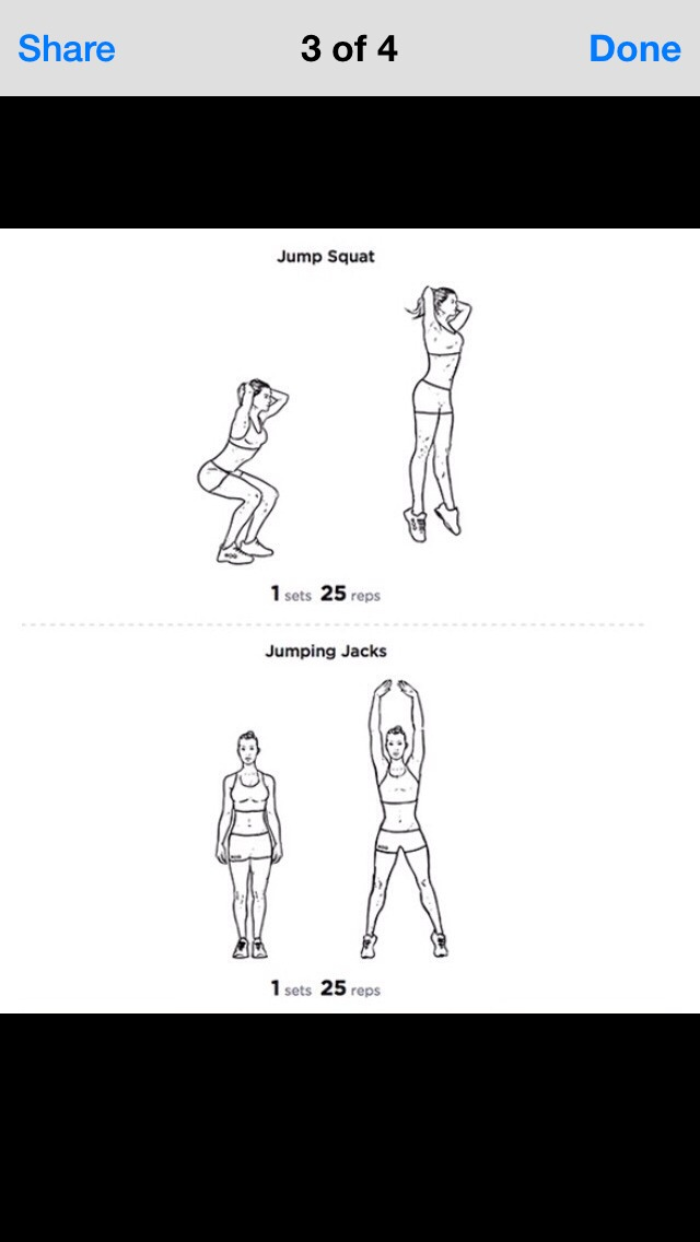 just in case anyone is confused about the 1 sets of 25 reps or anything. this means that you're going to the exercise 25 reps (or however many times it tells you to) reps means times. so 25 times but only 1 time.  so if it was 2 sets of 25 reps. you would do 25 reps 2 times. I know it's confusing😂