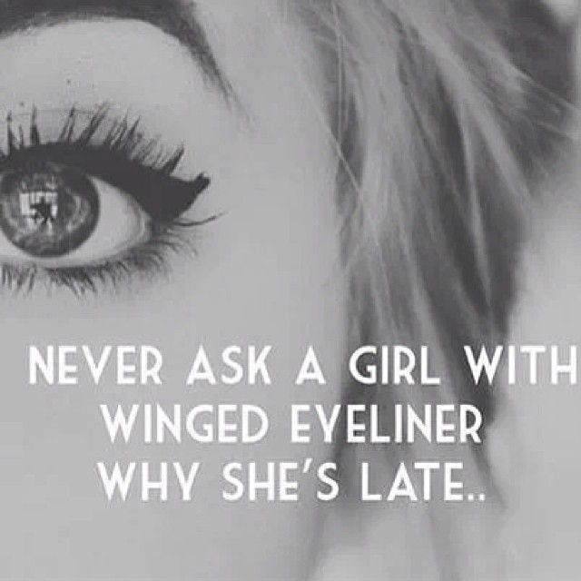 Next I apply brown liquid eyeliner. I personally ALWAYS wear winged eyeliner, it's kind of my thing.