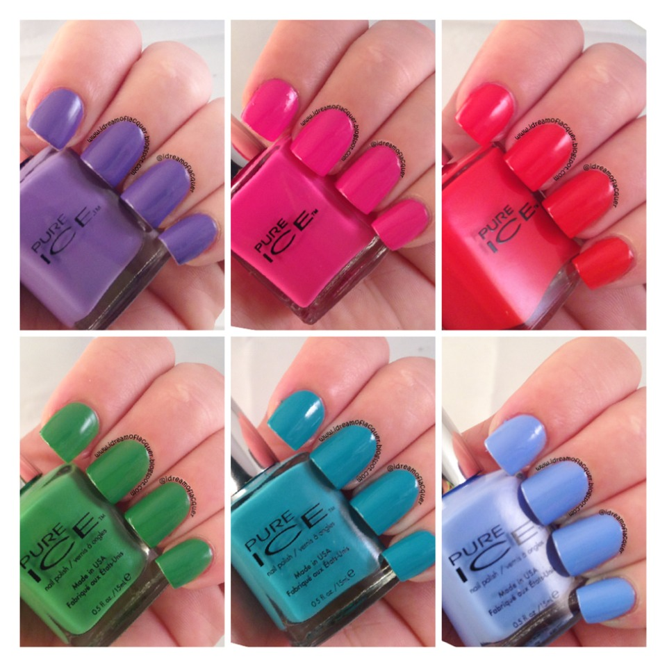 These nail polishes work so well. They go on well, don't chip, long lasting, great colours, not too thick or thin. Just amazing, every girl should have these nail varnishes.