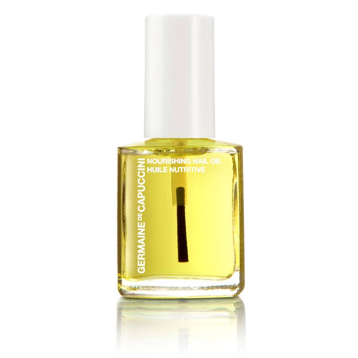 Get some nail oil, apply it to your nails and rub it in (do this for every nail both hands)
