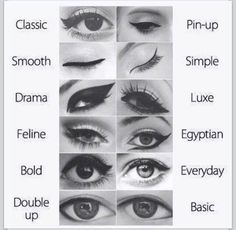 here is all the eyeliner you can do but if you have hooded eyes I suggest you don't go past the line were your eye creases
