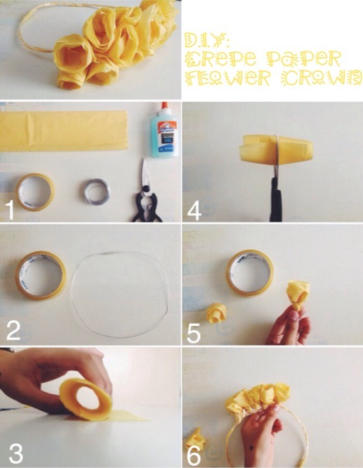 How To Make A Flower Crown Using Crepe Paper Flowers Healthy