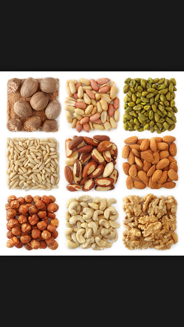 Any type of nuts except macadamia!