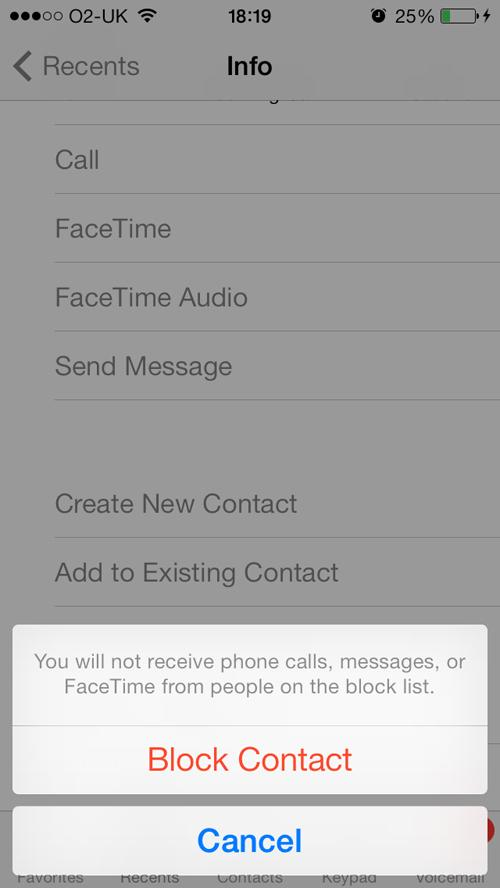 Go to your contacts app and tap the person you want to block. Scroll down and tap 'block contact'.