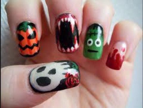 Halloween mix nails👻💅🎃