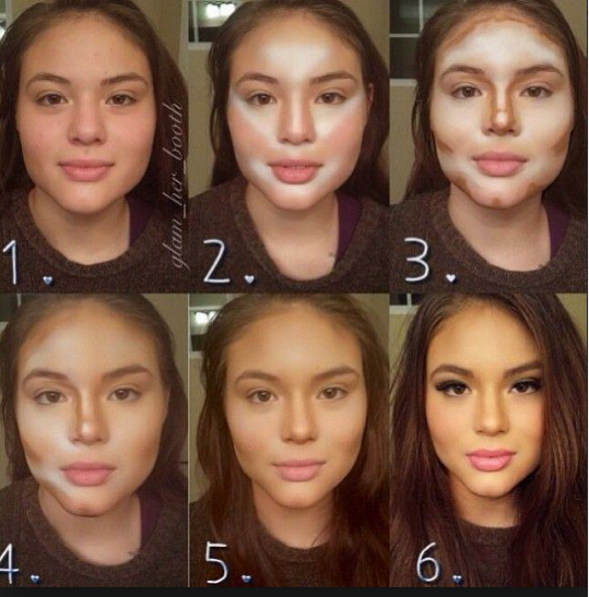 exactly where you should contour and highlight!
