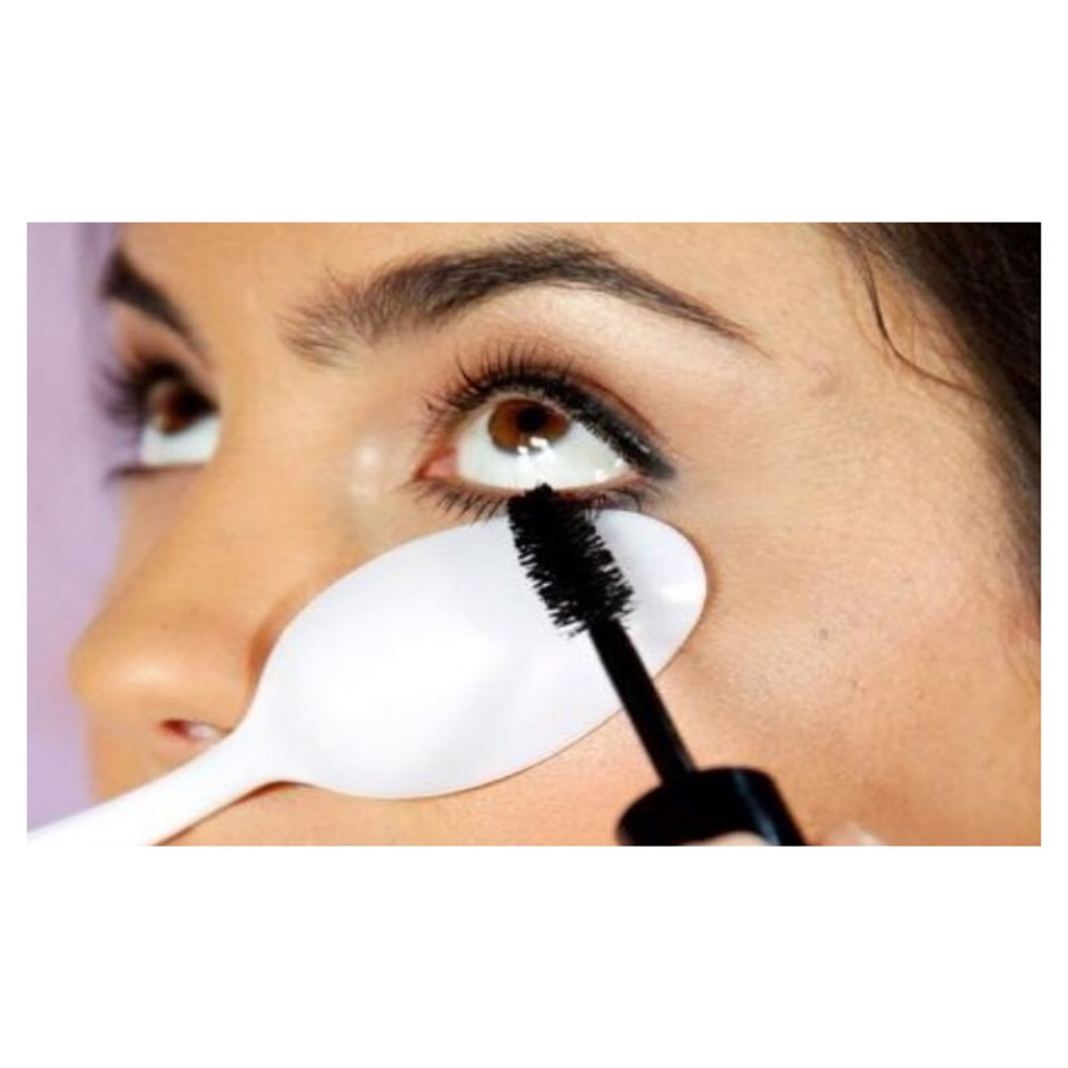 Tip 9: Plastic Spoon  Get a plastic spoon and hold it under your eye when applying mascara for a thicker coat