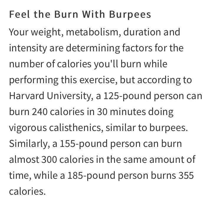 Burpees (Squat Thrusts)