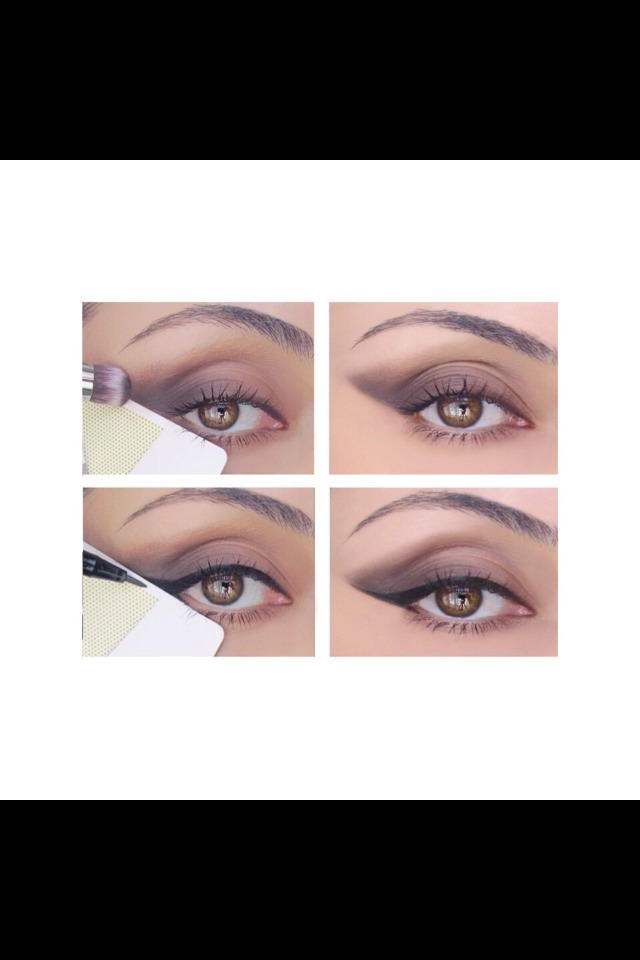 Easy and simple way to apply your eye make up  Just use tape or a band-aid