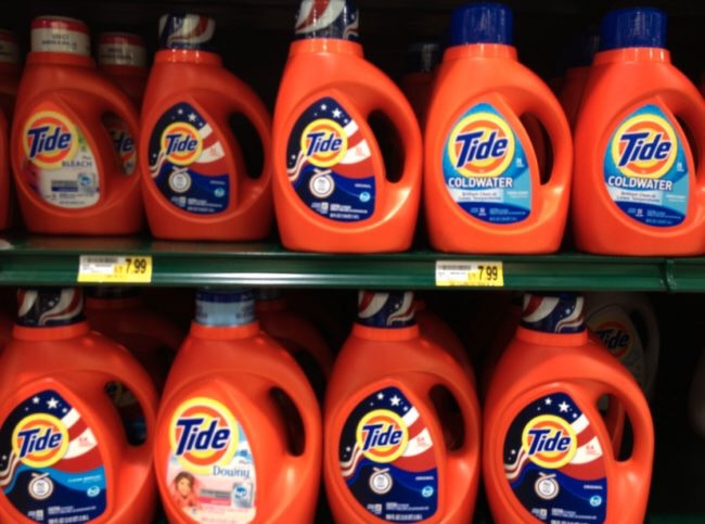 3. Laundry detergent. There are enough excuses to avoid laundry as it is, you don't need to add a no deterg to the list. By springing for one of those massive detergent tubs, you can save as much as 17 cents per load, which is nothing to sneeze at (especially if you're working with a coin-operated machine).