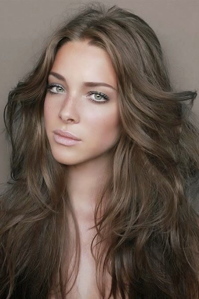 Medium and dark browns with cool undertones are flattering on most complexions.