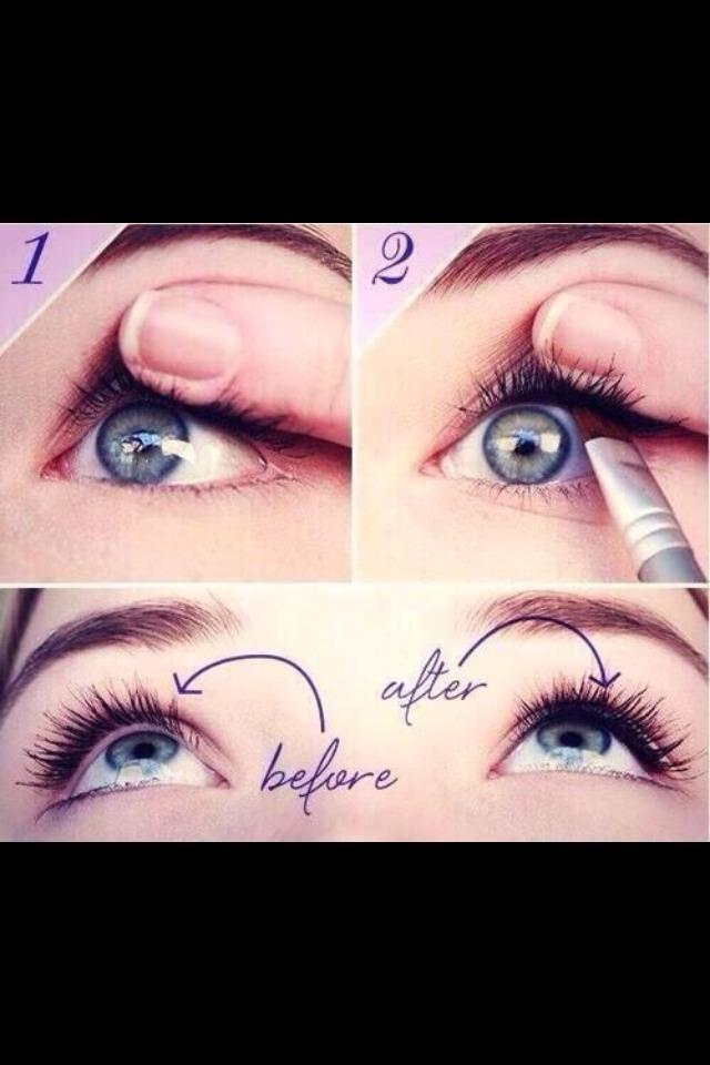 Use black eyeshadow to make eyelashes look fuller!