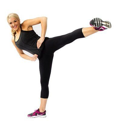 2. Side Kicks:This is a cardio move that'll begin shaping your lower body, too! Knock out a full minute of this move before continuing on your quest for an hourglass figure.Get the details of this exercise here.