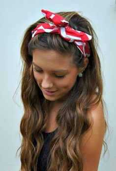Curl your hair, keep it straight and outa cute summery bandana on keep it simple.