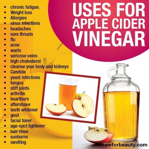 More uses for apple cider vinegar.