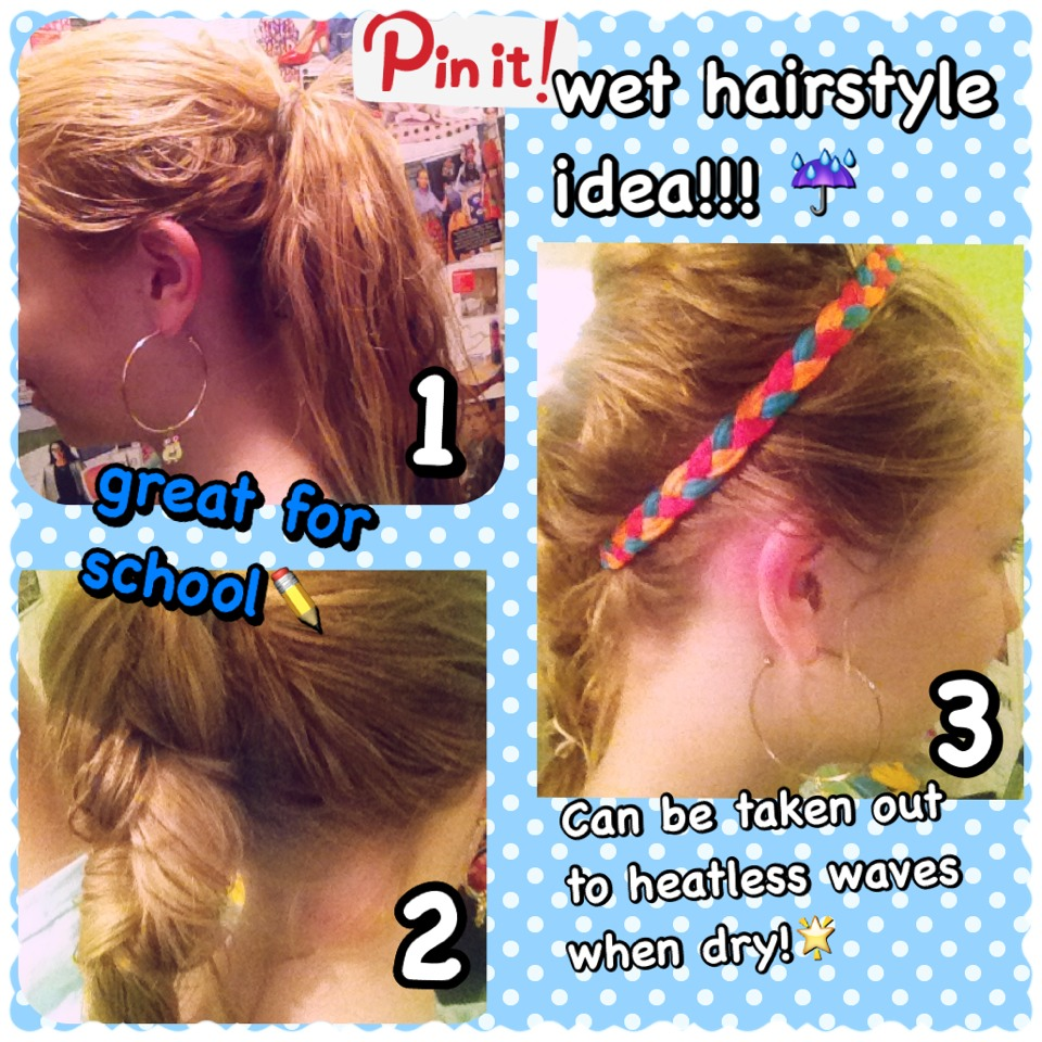 Super Simple Hairstyle For Wet Hair Can Be Taken Out