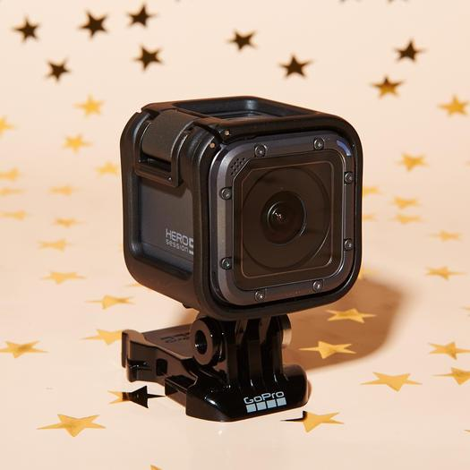 GoPro HERO5 SessionGoPro is now hands-free, so you can clip it on and never look back. It records in stunning 4K video with the most advanced stabilization, and this waterproof version holds up no matter what extreme sport your girl has taken up lately. ($300;gopro.com)
