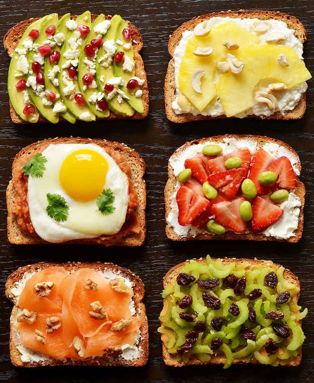 21 Ideas For Energy Boosting Breakfast Toasts!