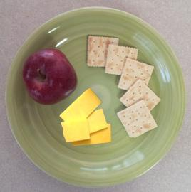 Day 3 Breakfast:      (5) saltine crackers (64 calories)     (1) slice of cheddar cheese     (113 calories)     (1) small apple (55 calories)