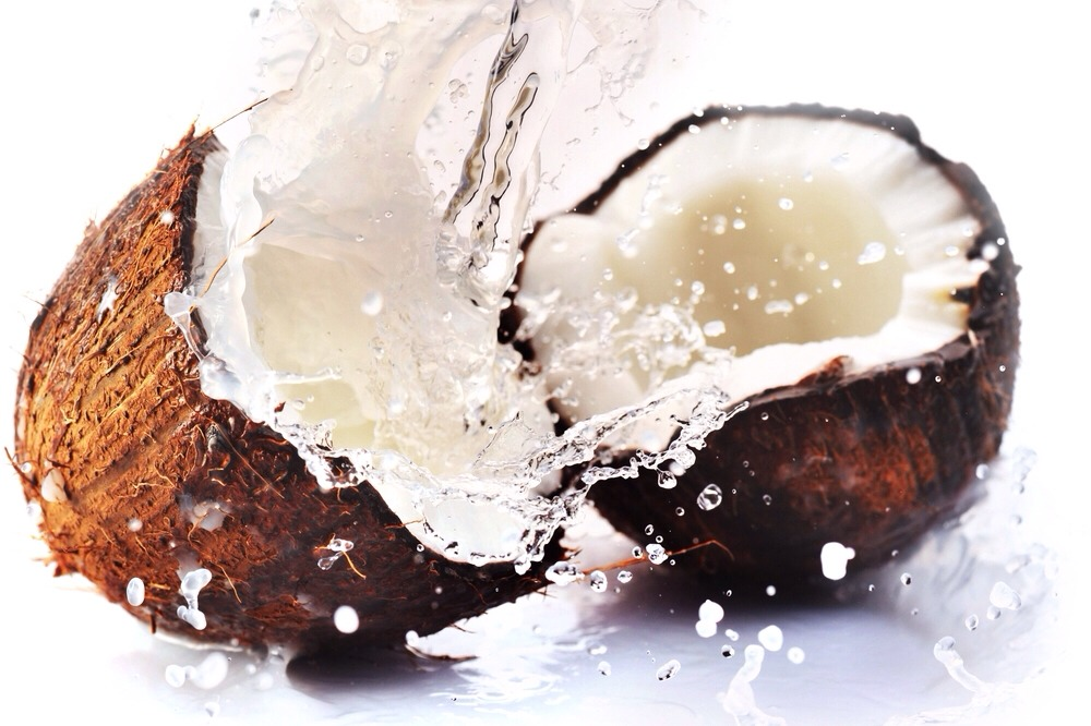 --> Coconut is a very sweet and filling snack that can satisfy your sweet tooth in a time of crisis. --> It contains chains of triglycerides that raise the metabolic rate of the liver up to 30 percent, therefore helping you lose weight.