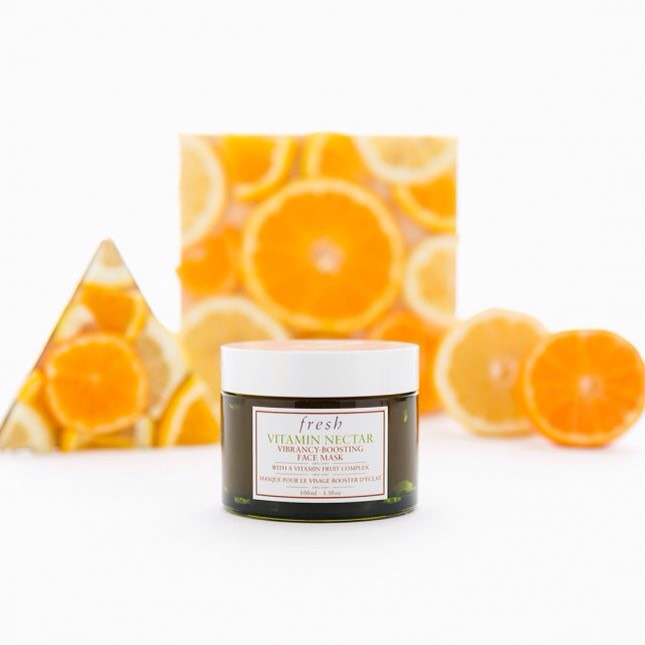 8️⃣Fresh Vitamin Nectar Vibrancy-Boosting Face Mask | Packed with vitamin fruit complex, blended with vitamin C, E and B5, lemon +orange fruit extracts. You can use this mask once a week for vibrant, brighter + healthier-looking skin.