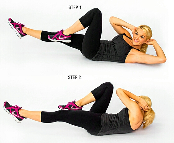 And do 20 bicycle crunches.