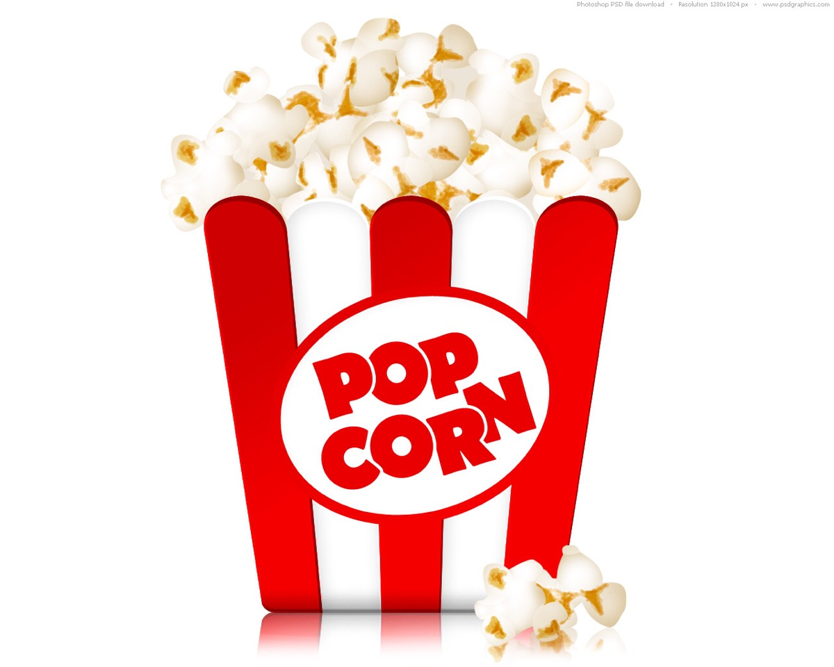 Pop corn is always a food to eat when watching a movie I mean like when a scary part of the movie comes on n ur ready to throw ur popcorn in the air
