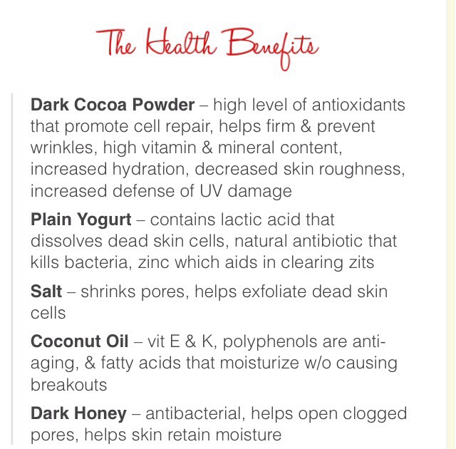Don't forget the health benefits! Not just for deliciousness! 💘🍫( CLICK for full view )