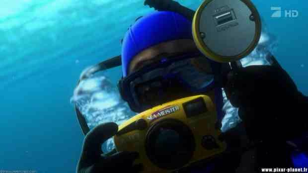 """In """"Finding Nemo,"""" it was on the diver's camera. Something fishy was going on here."""