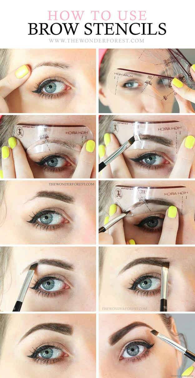 13. Try using a brow stencil.