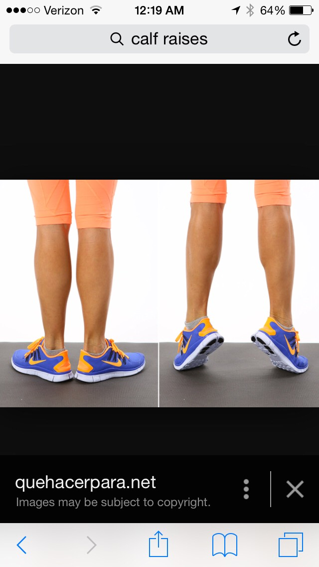 Calf raises 💃🏼 hold for 5 seconds on toes