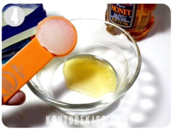 Add 1 teaspoon of Vaseline to the honey and sugar