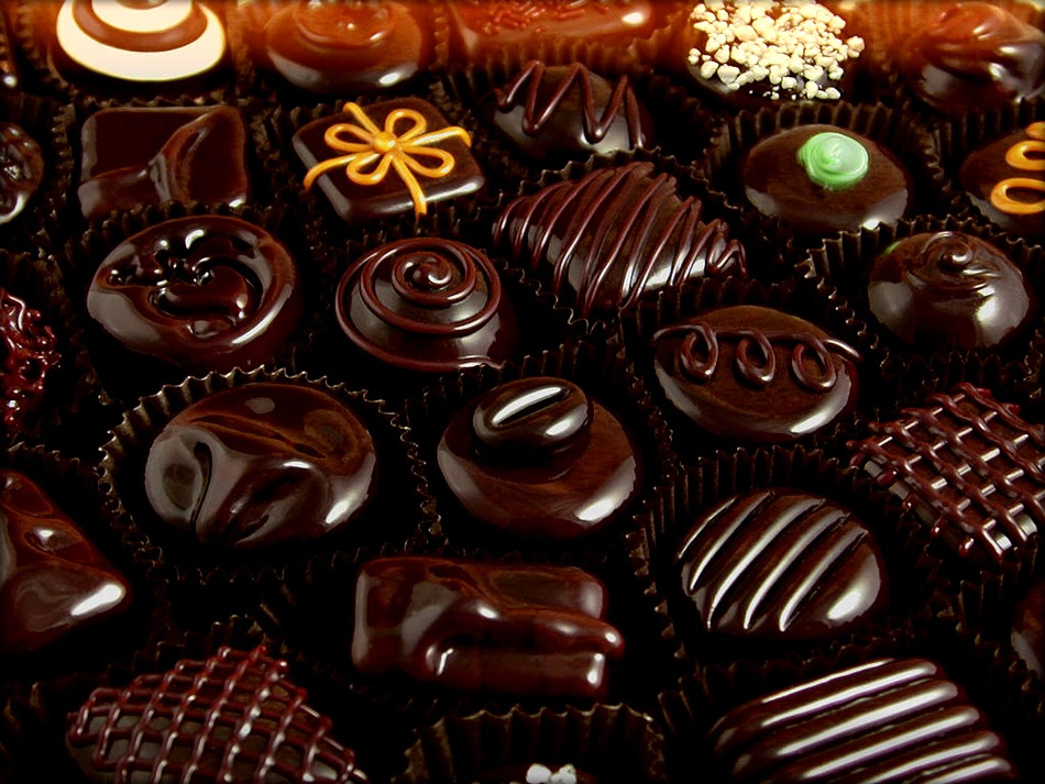 Chocolate gives off the same chemical that gives you the same reaction as when you fall in love.
