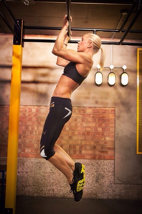 10 pull ups (try not to swing)