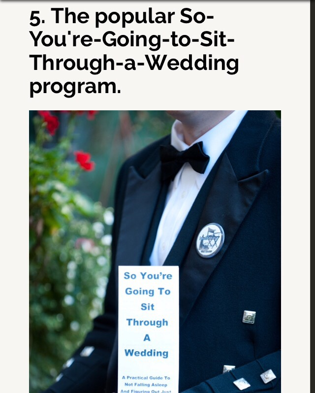 This is the link to the pamphlet:  http://offbeatbride.com/2011/12/funny-wedding-program