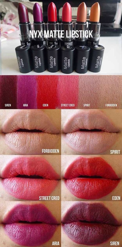 1. NYX Matte Lipsticks: The super-pigmented shades range from everyday neutrals to not-subtle-at-all brights. They have a creamy application and — unlike most mattes — won't dry out your lips.