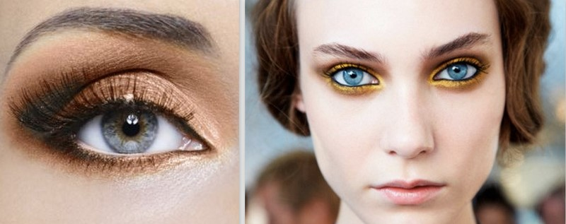 now what color are your eyes is also important if you have blue eyes and green eyes Brown's and copper colors will make your eyes pop.