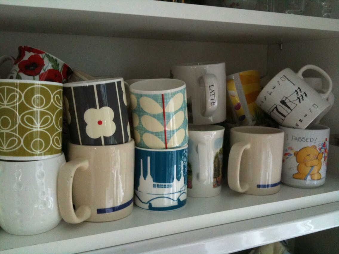 Mugs. Let's be real; they've become unappealing to look at, drink from and they take up space in the cabinet. Also; do you really need 12 mugs?