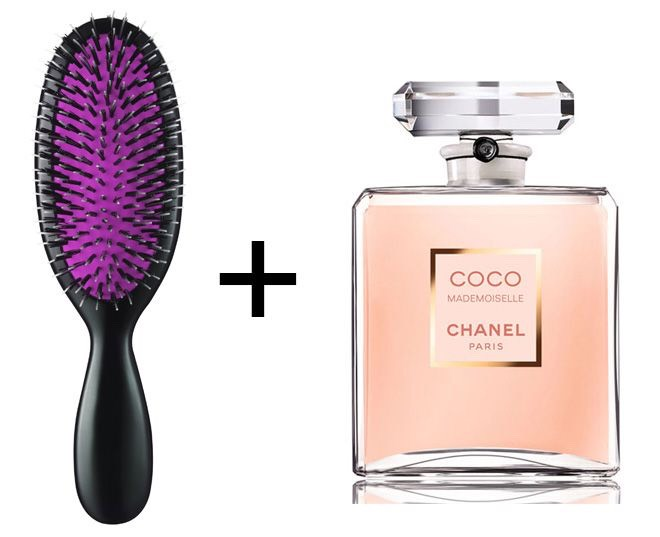 When you want your hair to smell good but dont feel like washing it, then try spraying about five sqirts of it onto your hairbrush and then brush your hair with it... Brush from your roots to your ends/tips. This should leave your hair smelling good all day!