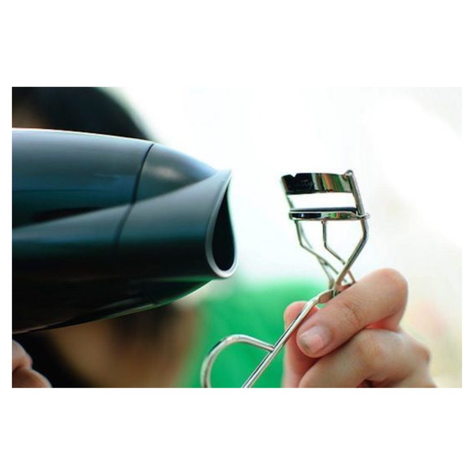 Tip 3: Heat Your Lash Curler  Hit your eyelash curler with a blowdryer for a few seconds for longer and fuller lashes