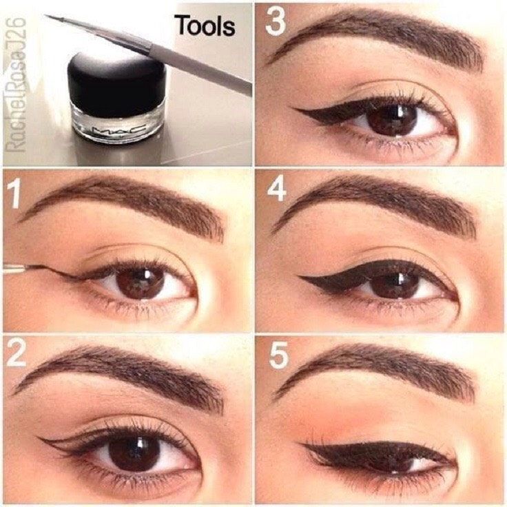 Use your bottom eyelid as a guide to get the perfect look(:  Try making the line as thin as possible for best look. 👌