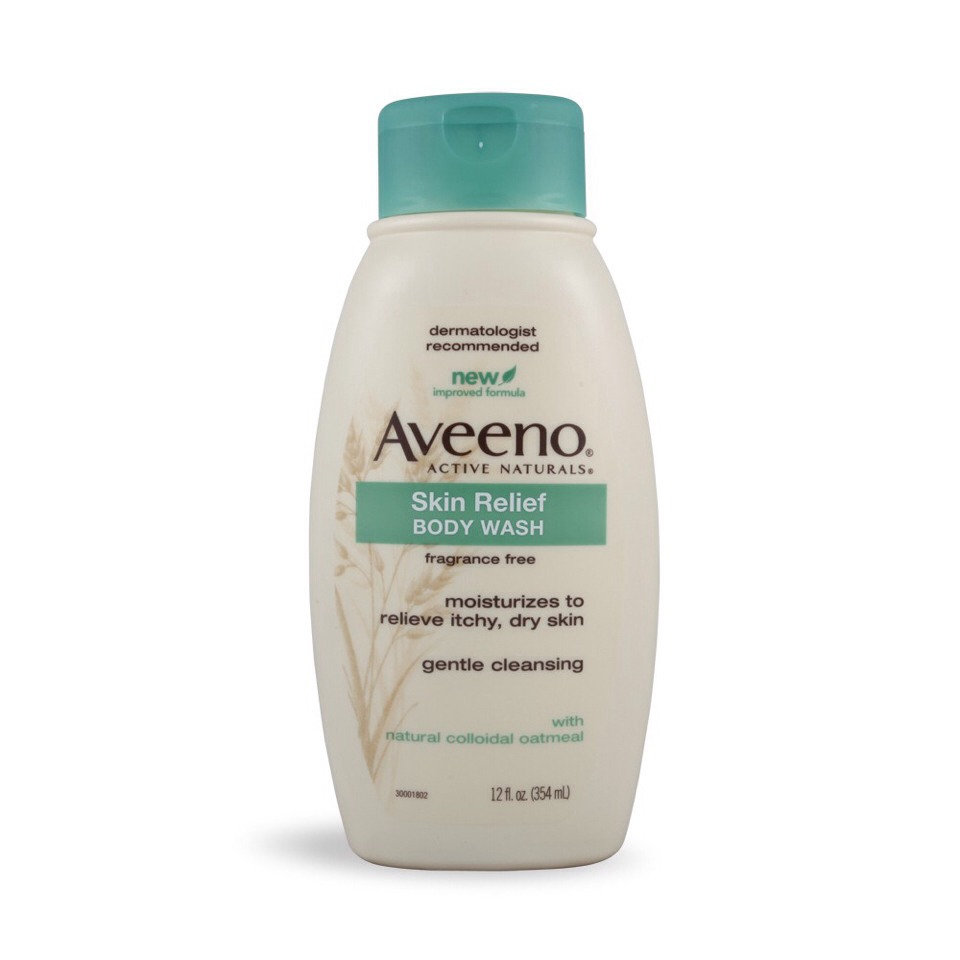 "I love using the aveeno body wash for washing and shaving, because it isn't too hard on my skin. I found using normal shaving cream too drying and caused more flakes and itching, but I love how moisturizing the ""skin relief"" by aveeno is."
