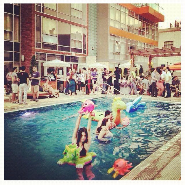 24. Have a pool & pizza party