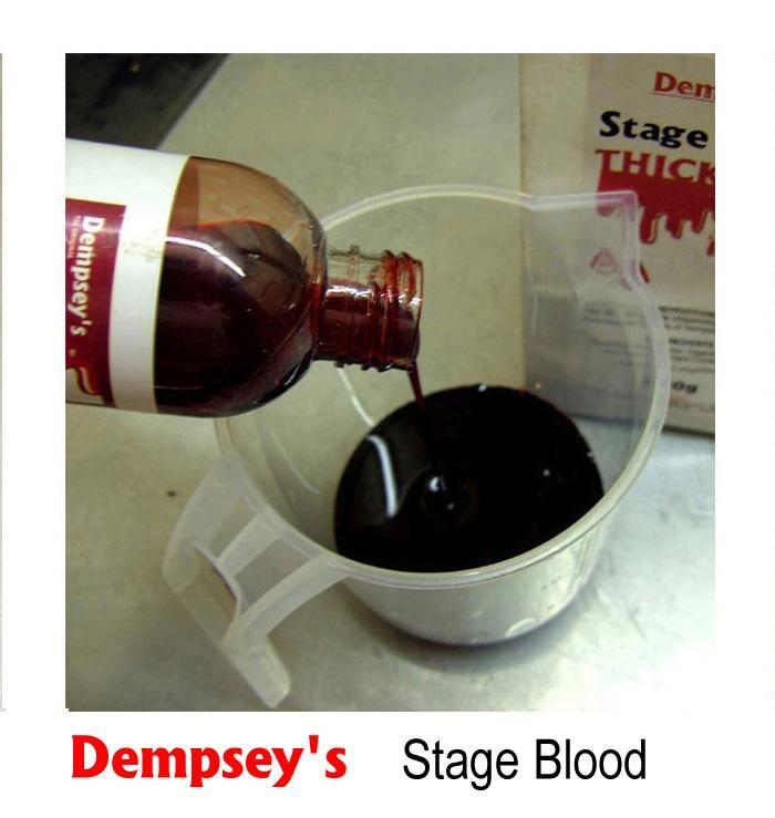 Now apply stage blood inside the whole