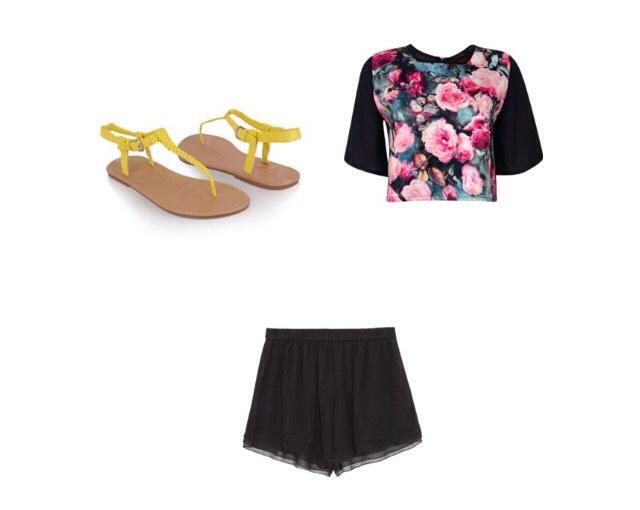 Shirt - boohoo.com  Shorts - theoutnet.com  Shoes - Pinterest.com