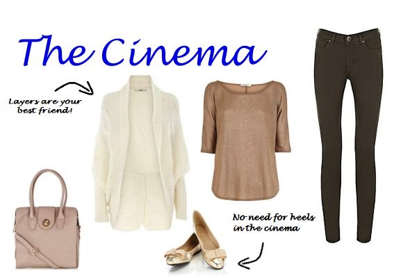Cinema first date Something casual and warm something you can snuggle in and is comfy Use calm colours like beige and black