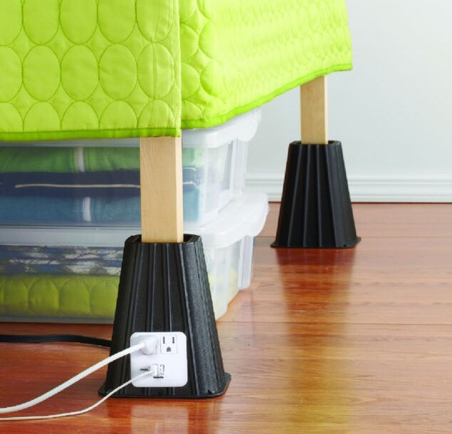 7-Inch Power Bed Riser (Set of 4), $29.99, bedbathandbeyond.com You'll never have to wait for an open outlet again!