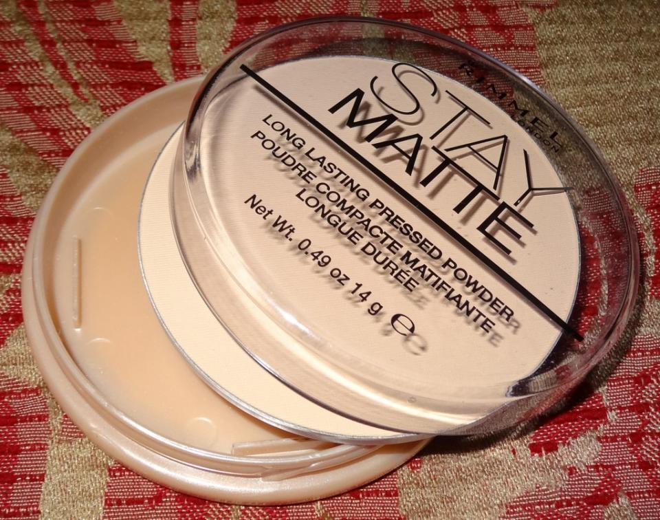 This Stay Matte finishing powder by Maybelline will keep your foundation in place all day. I would find that without a finishing powder, my rosacea would peek through throughout the day as my foundation wore off. With this powder you can be sure that your makeup won't move a muscle.