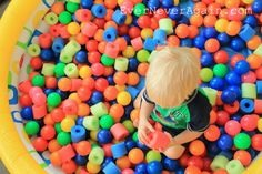 Add to plastic balls, an affordable way to beef up a ball pit.